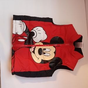 Mickey mouse red and black toddler vest